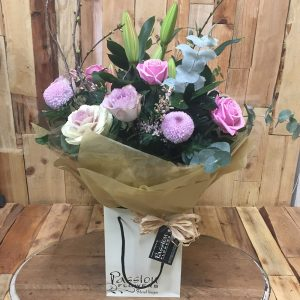 Aqua Hand Tied Bouquet